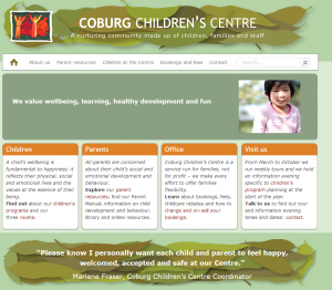 Coburg children's Centre website