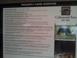 Caldermeade Farm FAQs see text for a list