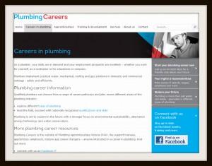 Plumbing careers website